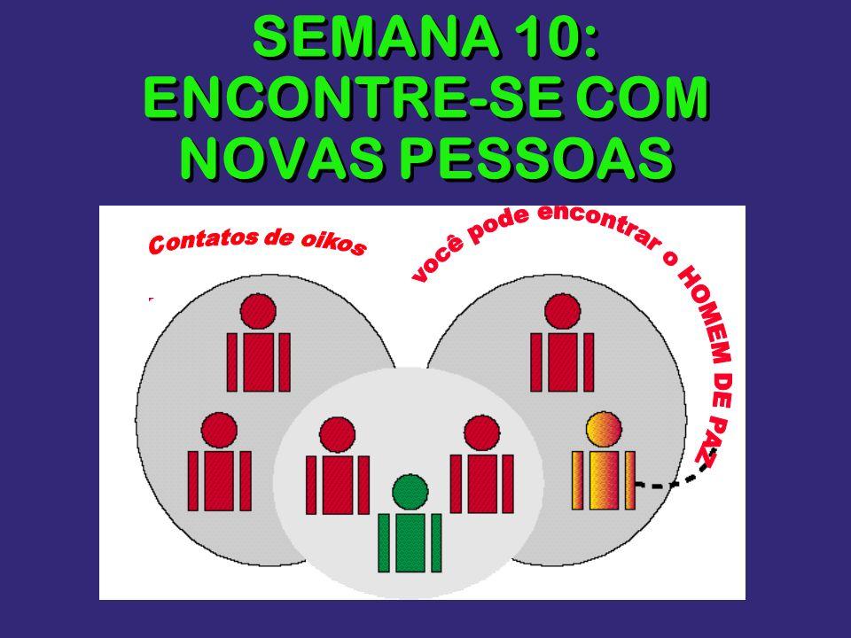 SEMANA 10: ENCONTRE-SE COM NOVAS PESSOAS
