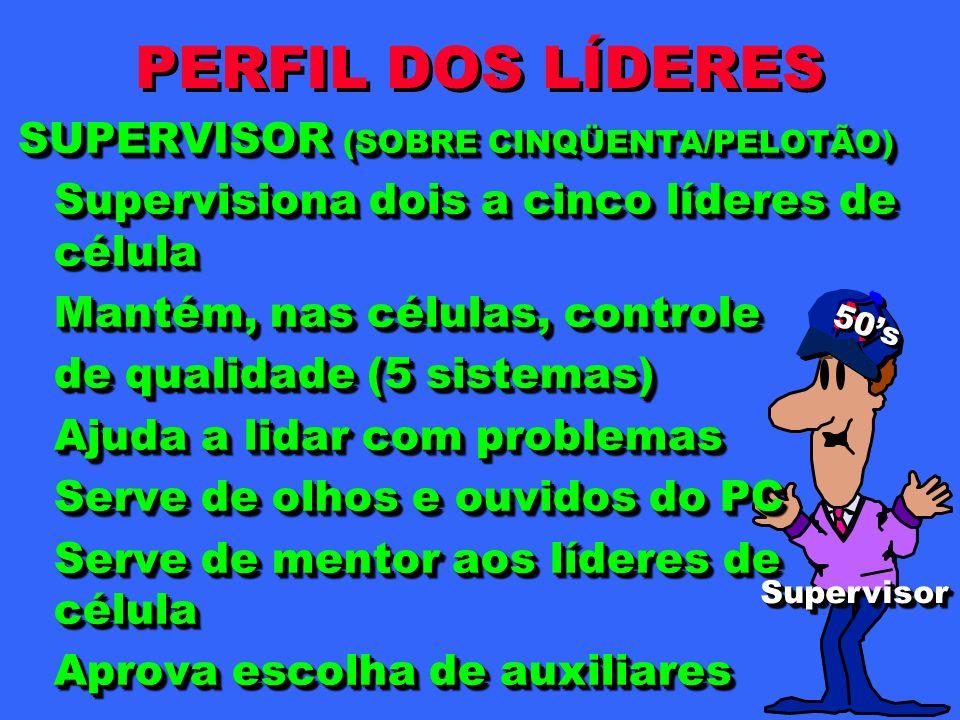 PERFIL DOS LÍDERES SUPERVISOR (SOBRE CINQÜENTA/PELOTÃO)