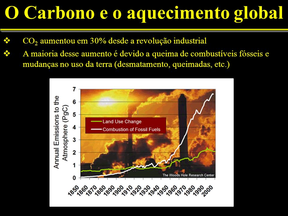 O Carbono e o aquecimento global