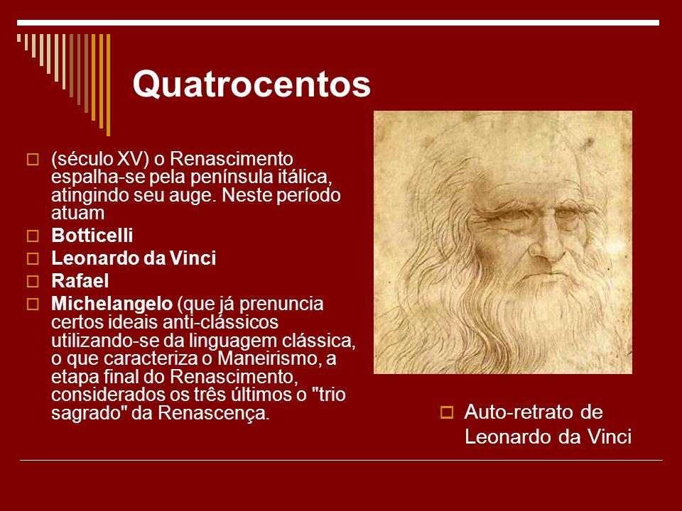 Quatrocentos Auto-retrato de Leonardo da Vinci