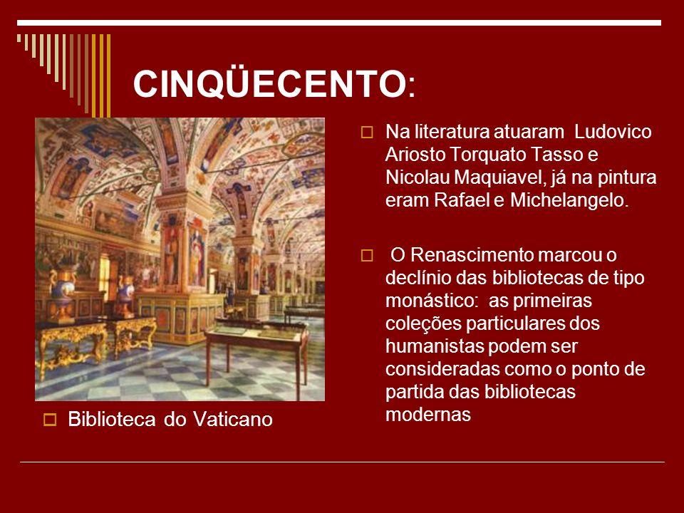 CINQÜECENTO: Biblioteca do Vaticano