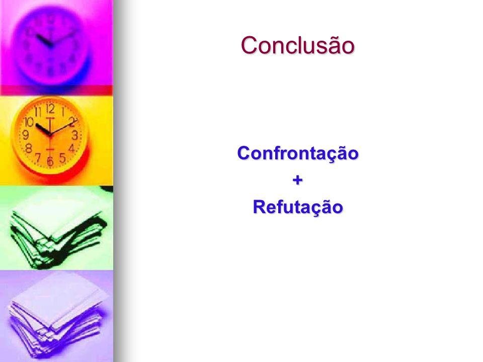 Conclusão Confrontação + Refutação