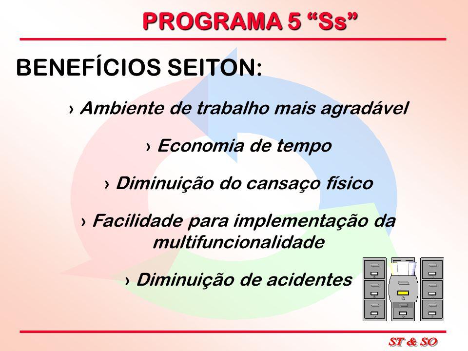 BENEFÍCIOS SEITON: Ambiente de trabalho mais agradável
