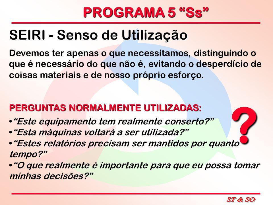 SEIRI - Senso de Utilização