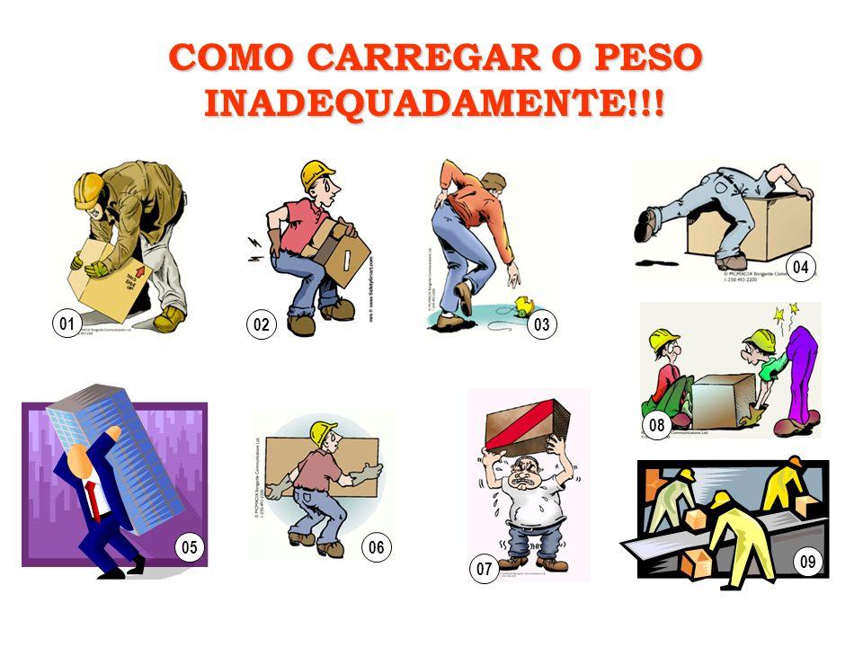 COMO CARREGAR O PESO INADEQUADAMENTE!!!