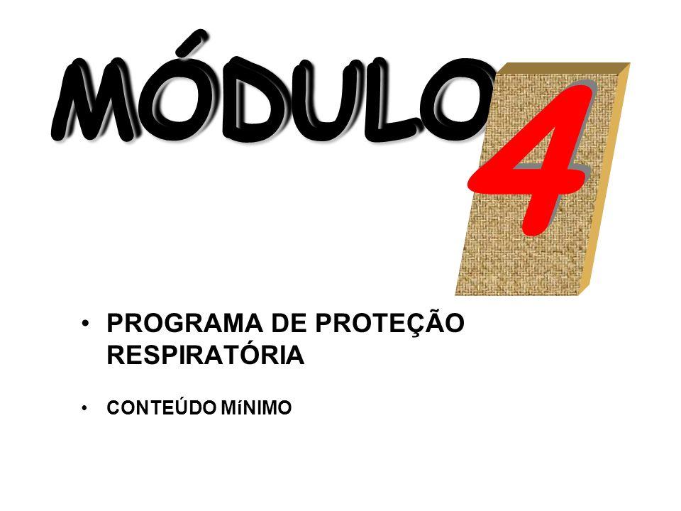 4 MÓDULO PROGRAMA DE PROTEÇÃO RESPIRATÓRIA CONTEÚDO MíNIMO