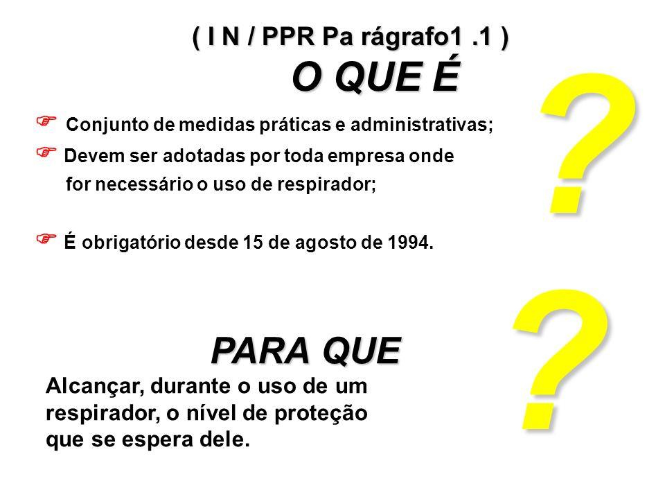 ( I N / PPR Pa rágrafo1 .1 ) O QUE É