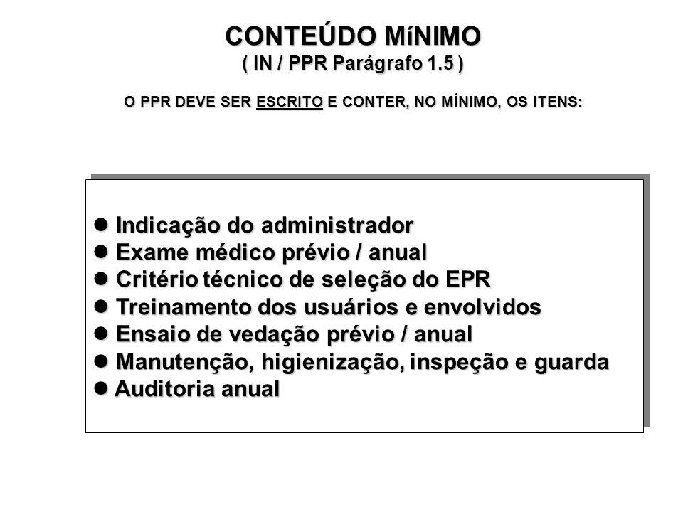 CONTEÚDO MíNIMO ( IN / PPR Parágrafo 1