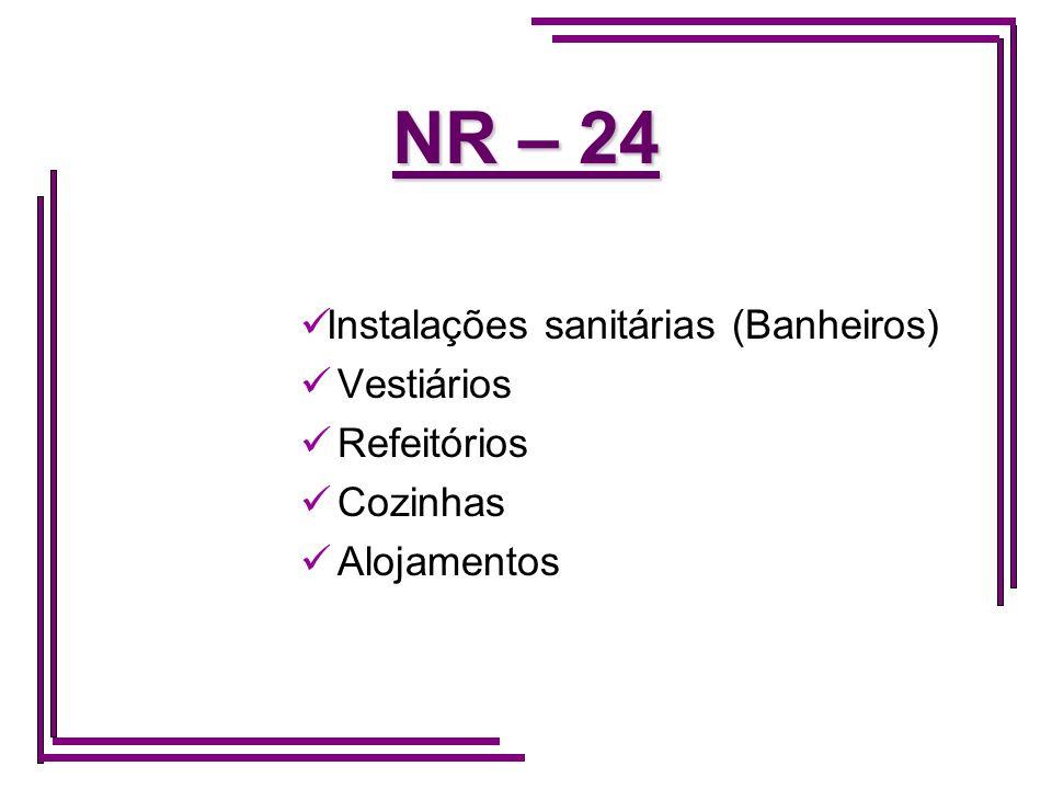 NR – 24 Instalações sanitárias (Banheiros) Vestiários Refeitórios
