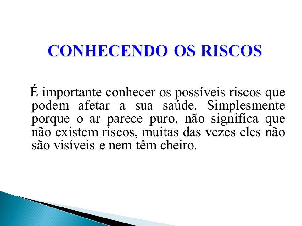 CONHECENDO OS RISCOS