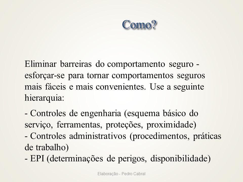 Elaboração - Pedro Cabral