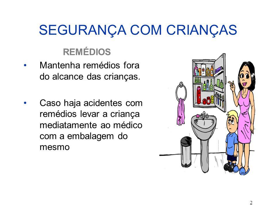 SEGURANÇA COM CRIANÇAS