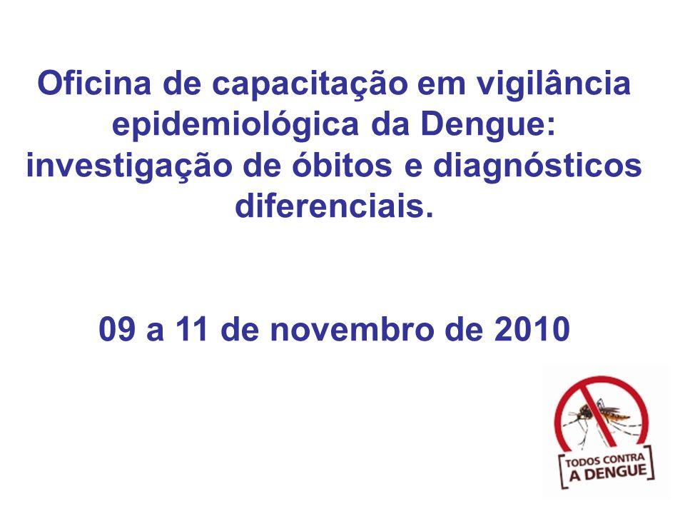 Oficina de capacitação em vigilância epidemiológica da Dengue: investigação de óbitos e diagnósticos diferenciais.