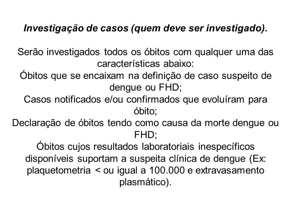 Investigação de casos (quem deve ser investigado)