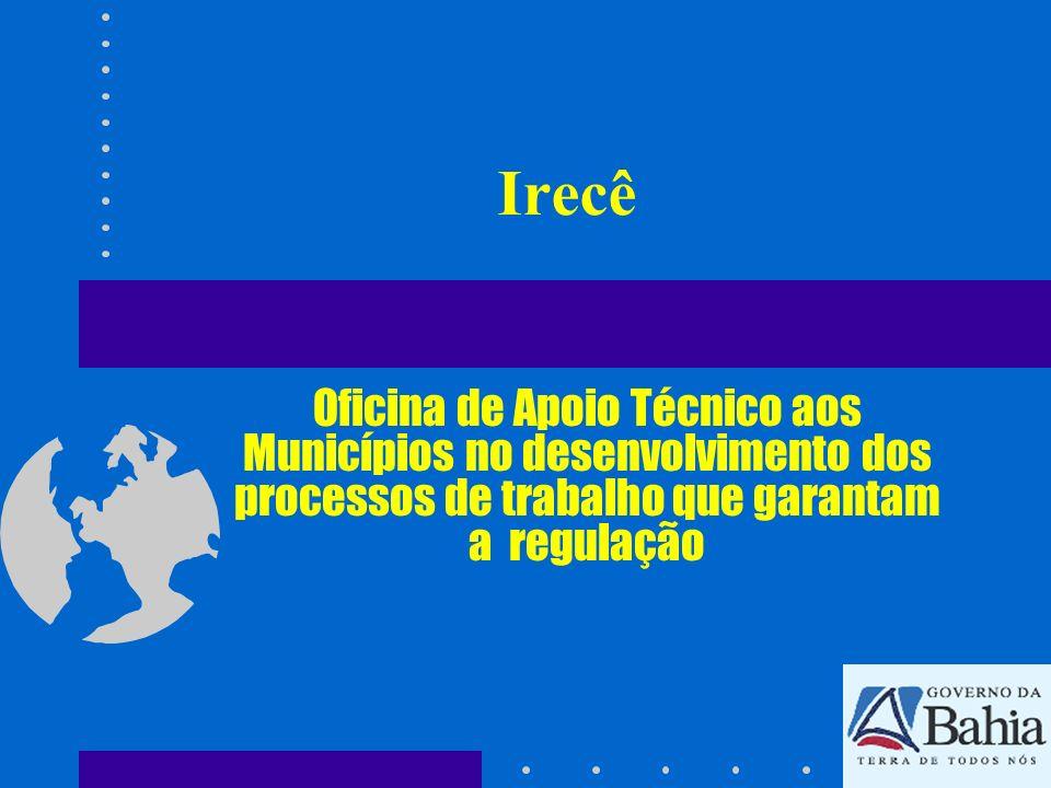 IrecêOficina de Apoio Técnico aos Municípios no desenvolvimento dos processos de trabalho que garantam a regulação.