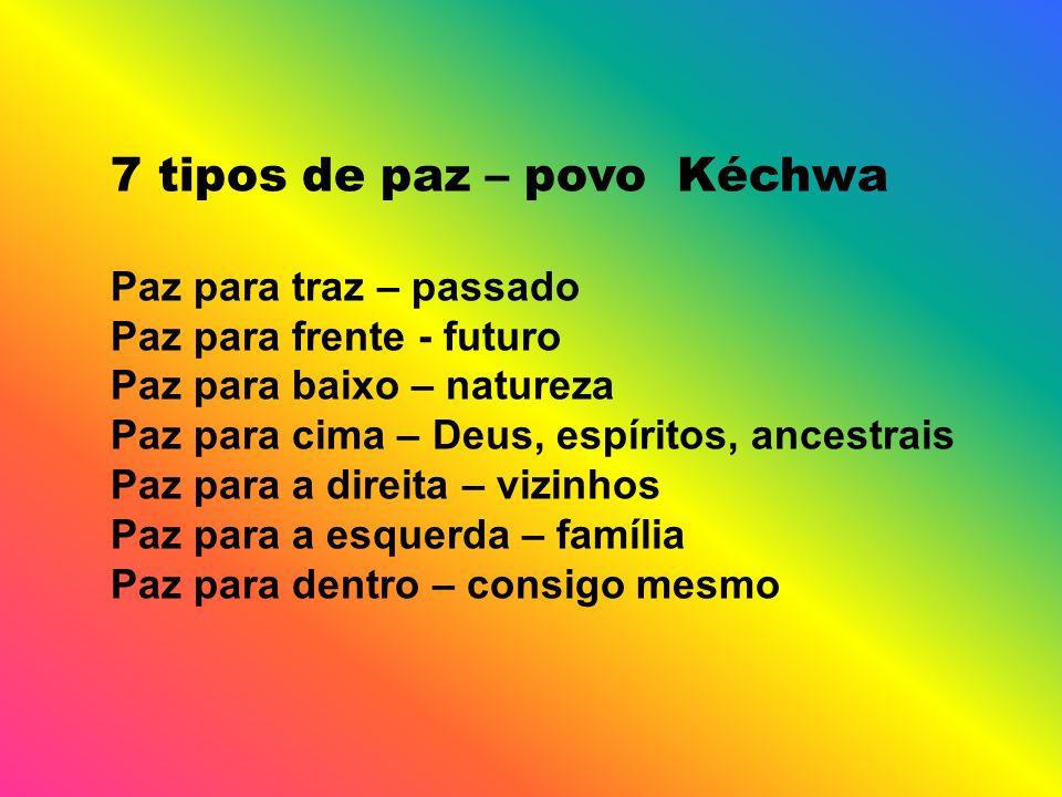 7 tipos de paz – povo Kéchwa