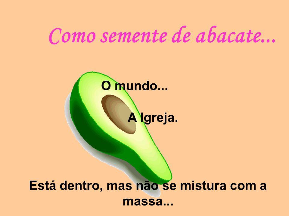 Como semente de abacate...