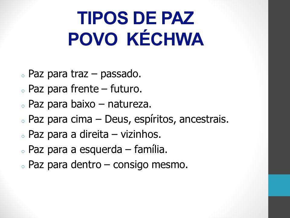 TIPOS DE PAZ POVO KÉCHWA