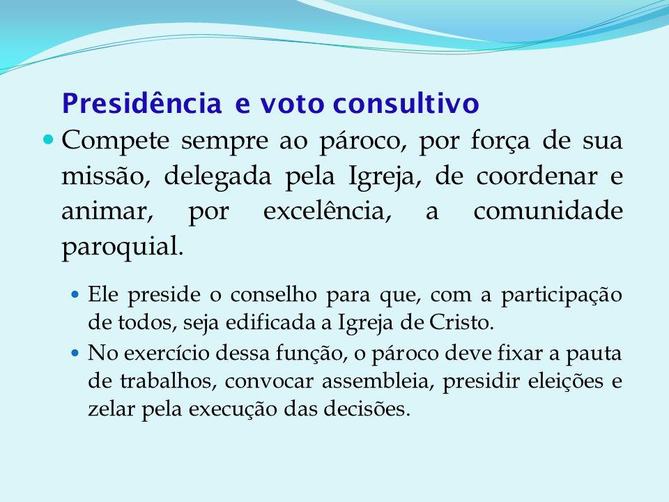 Presidência e voto consultivo