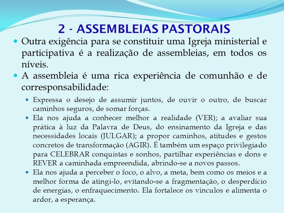 2 - ASSEMBLEIAS PASTORAIS
