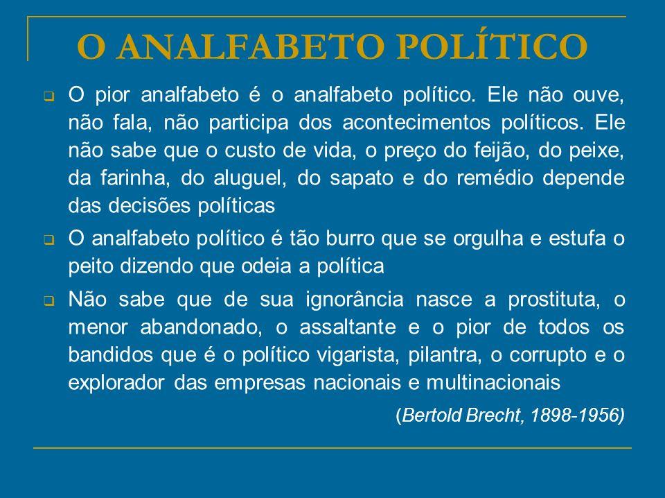 O ANALFABETO POLÍTICO (Bertold Brecht, 1898-1956)