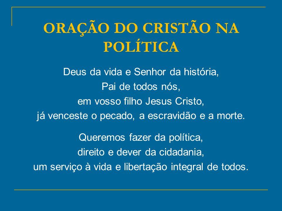 ORAÇÃO DO CRISTÃO NA POLÍTICA