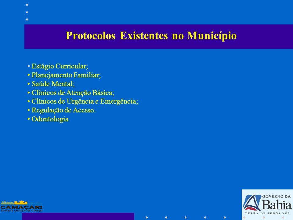 Protocolos Existentes no Município