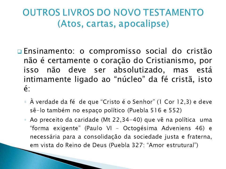 OUTROS LIVROS DO NOVO TESTAMENTO (Atos, cartas, apocalipse)