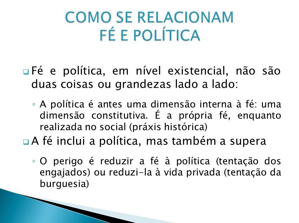 COMO SE RELACIONAM FÉ E POLÍTICA