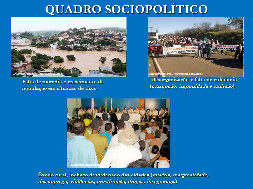 QUADRO SOCIOPOLÍTICO Disponível em: http://images.google.com.br. Disponível em: http://www.mabnacional.org.br.