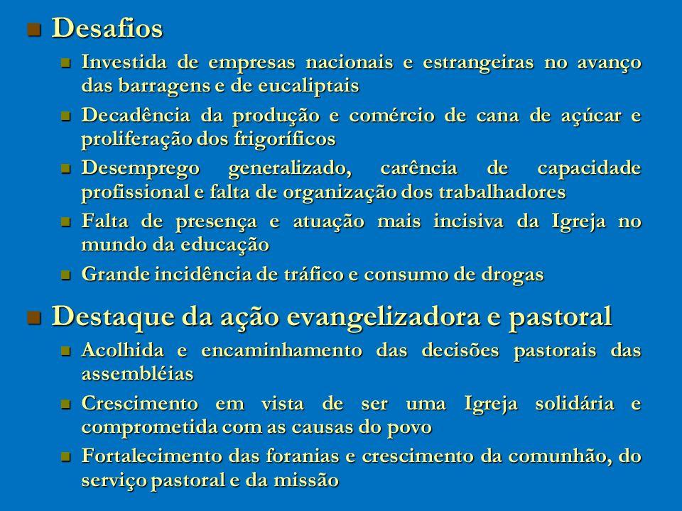 Destaque da ação evangelizadora e pastoral