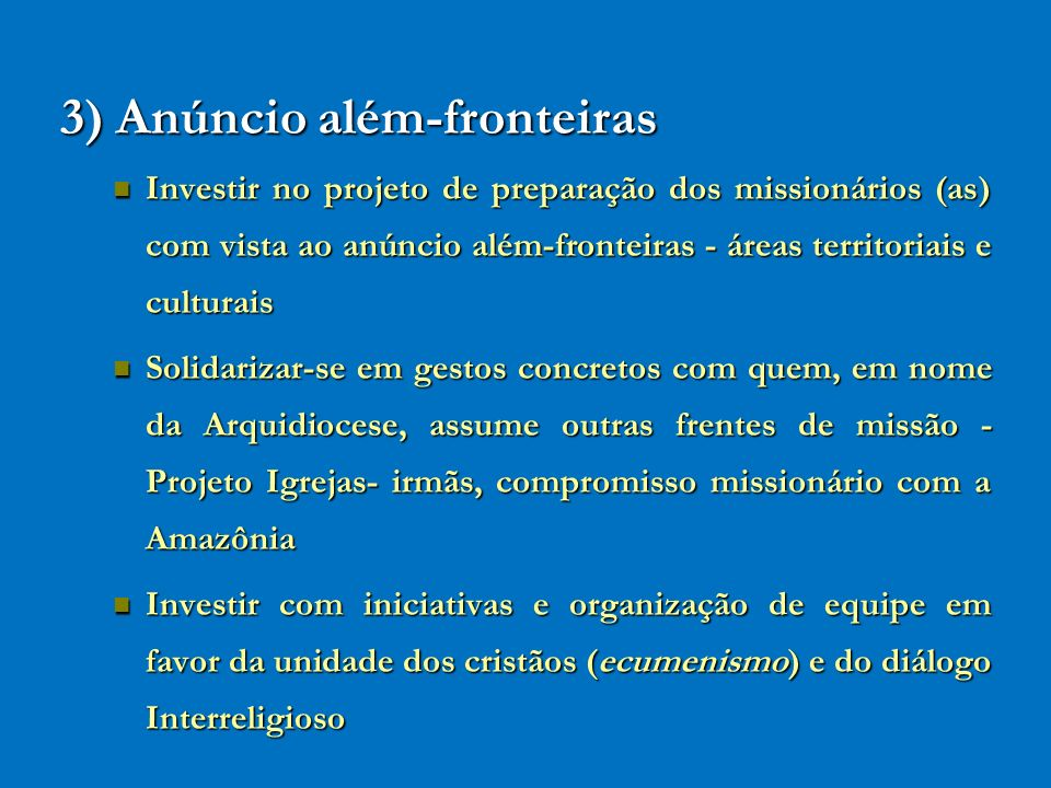3) Anúncio além-fronteiras