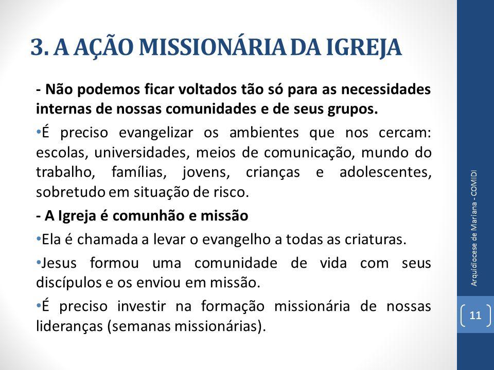 3. A AÇÃO MISSIONÁRIA DA IGREJA