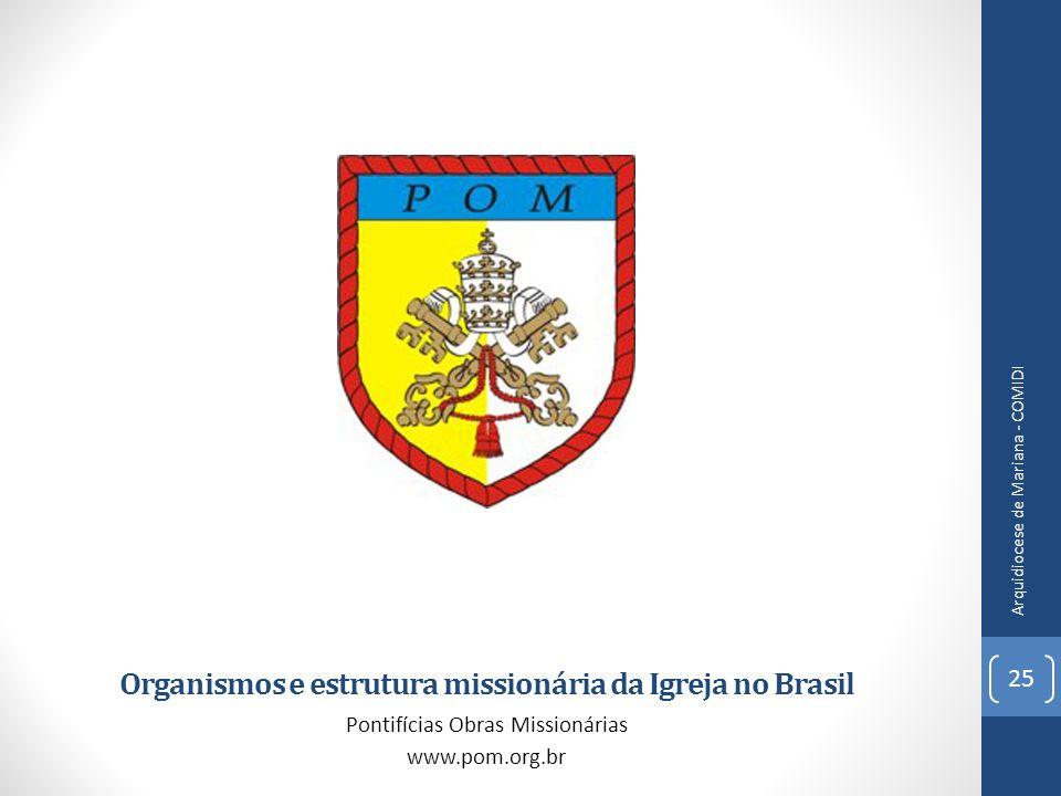 Organismos e estrutura missionária da Igreja no Brasil