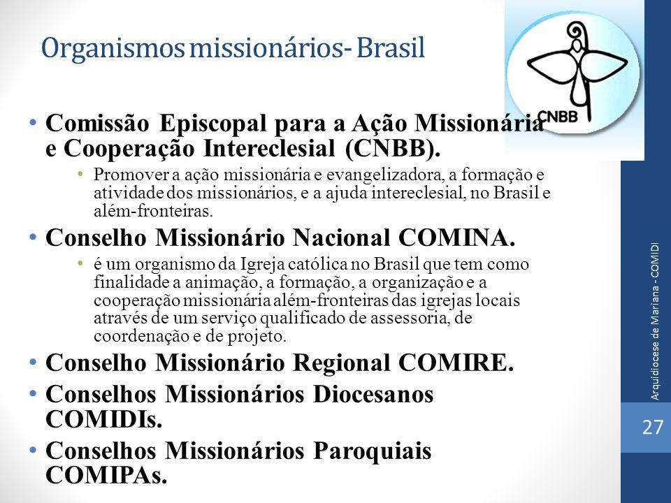 Organismos missionários- Brasil