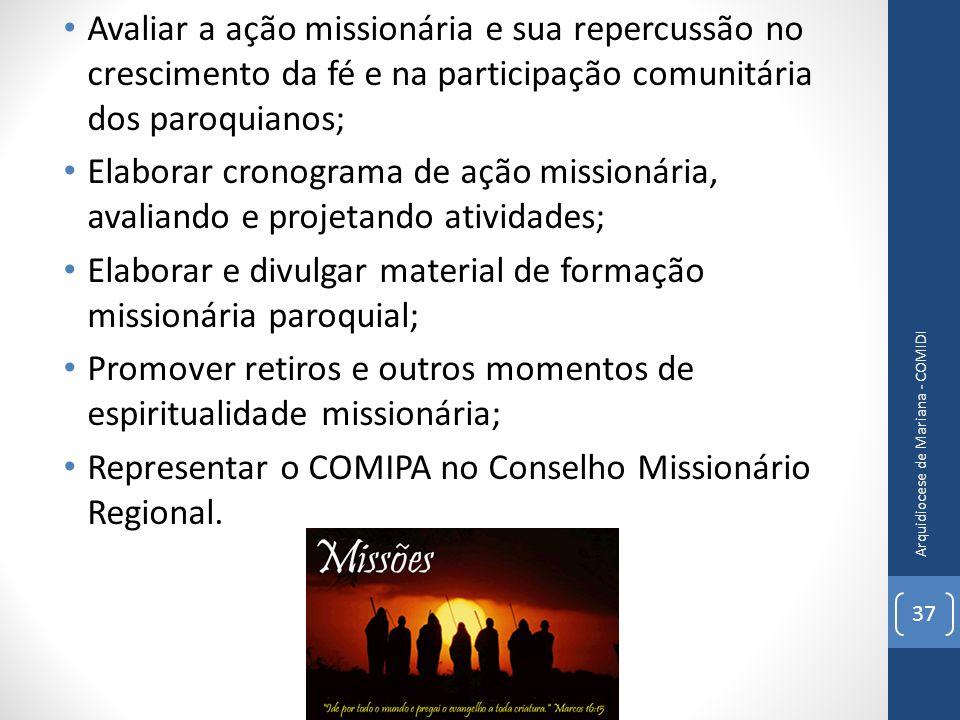 Elaborar e divulgar material de formação missionária paroquial;