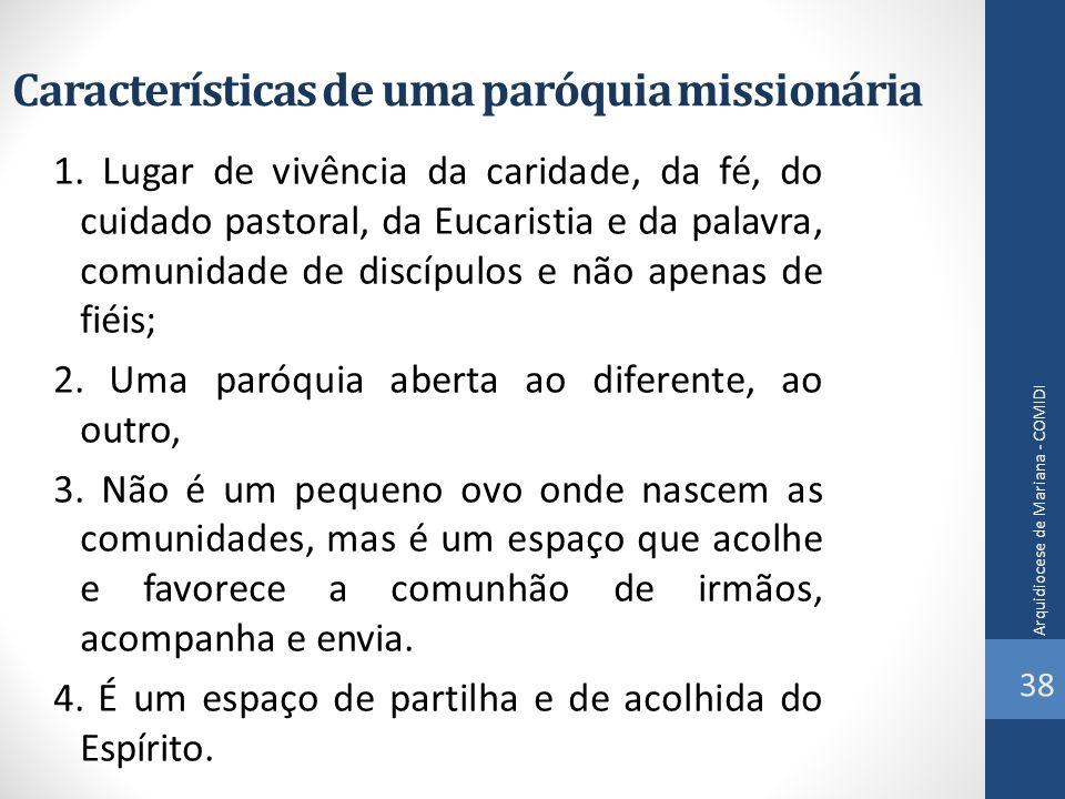 Características de uma paróquia missionária