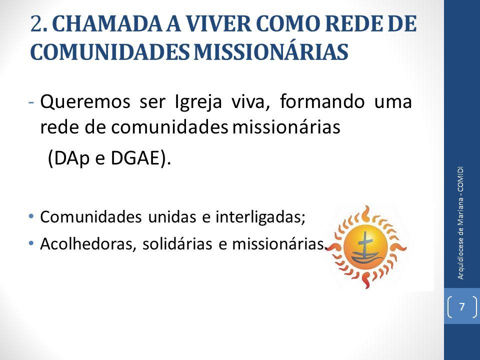 2. CHAMADA A VIVER COMO REDE DE COMUNIDADES MISSIONÁRIAS