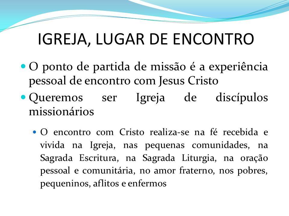 IGREJA, LUGAR DE ENCONTRO