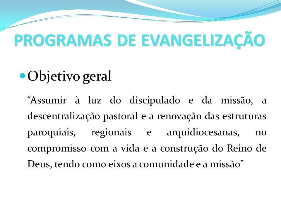 PROGRAMAS DE EVANGELIZAÇÃO