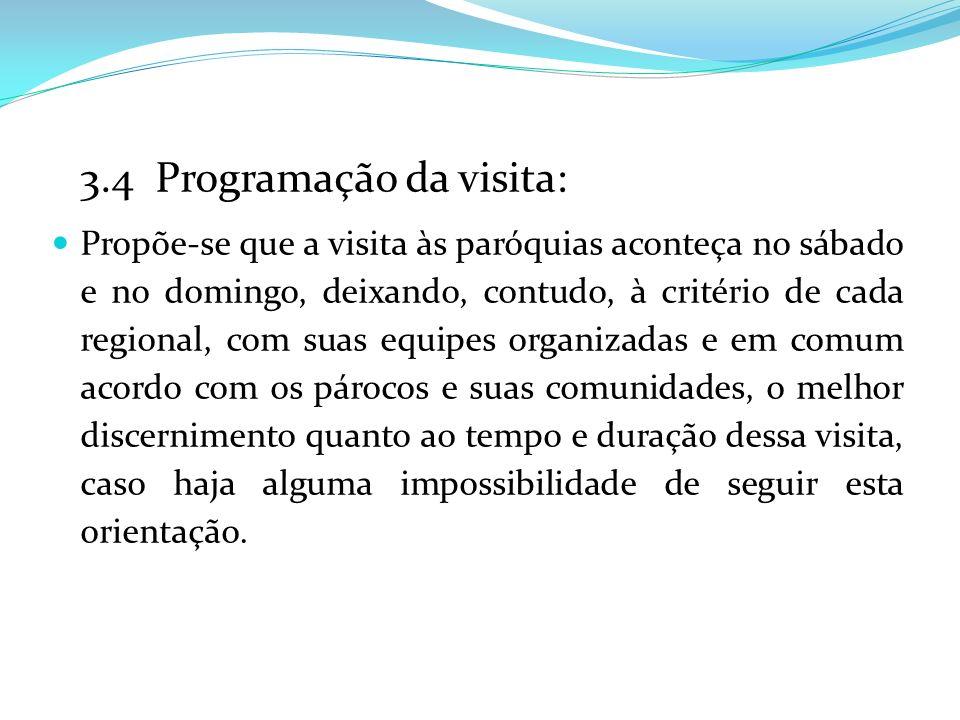 3.4 Programação da visita: