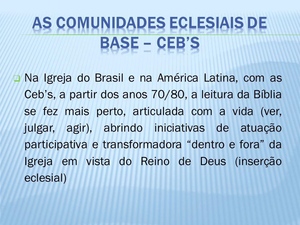 As Comunidades Eclesiais de Base – Ceb's