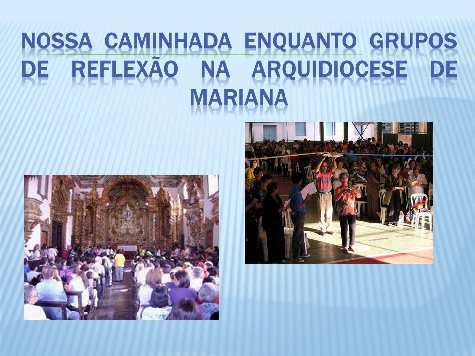 Nossa caminhada enquanto Grupos de Reflexão na Arquidiocese de Mariana