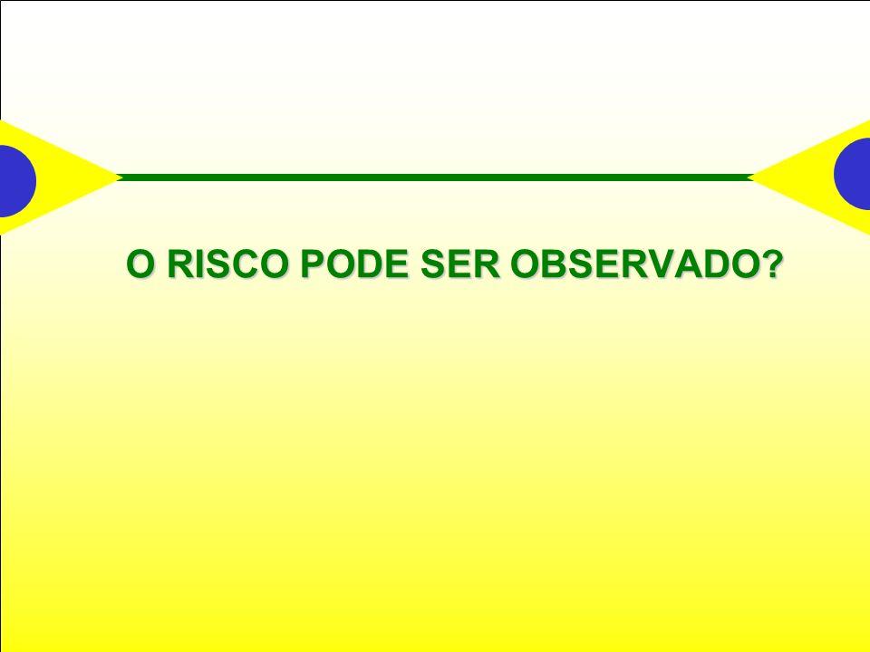 O RISCO PODE SER OBSERVADO