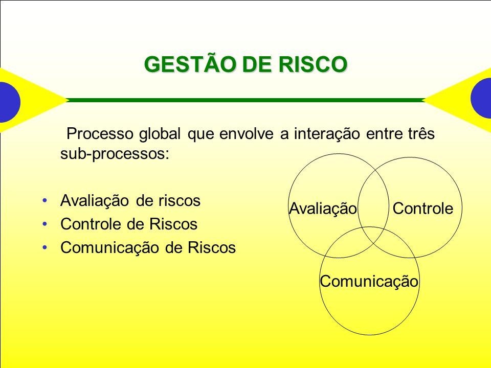 GESTÃO DE RISCO Avaliação de riscos Controle de Riscos