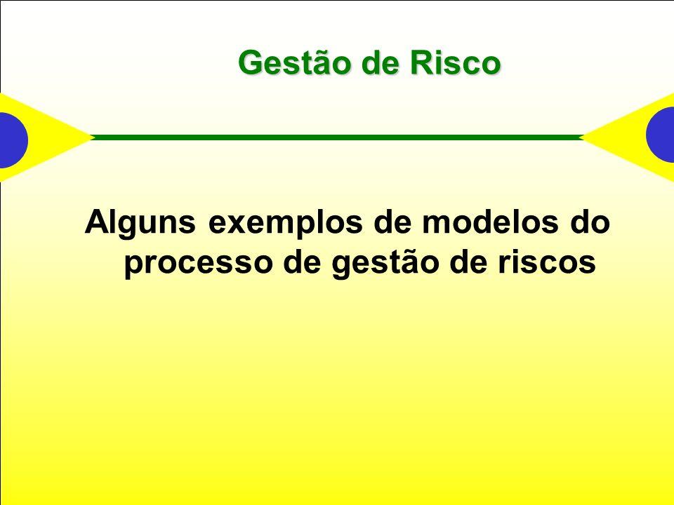 Alguns exemplos de modelos do processo de gestão de riscos