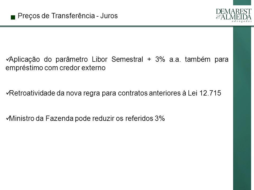 Preços de Transferência - Juros