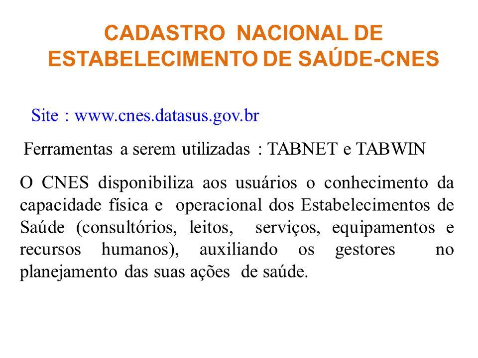 CADASTRO NACIONAL DE ESTABELECIMENTO DE SAÚDE-CNES