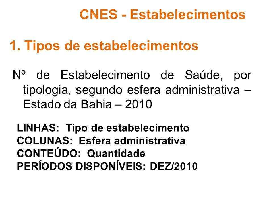 CNES - Estabelecimentos