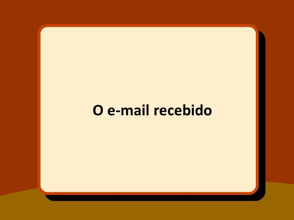 O e-mail recebido
